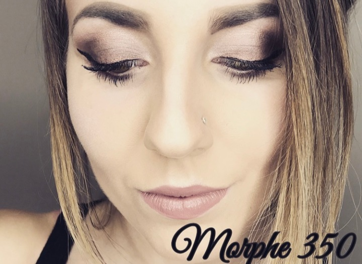 Soft Brown/Pink  Smokey Eyes; Morphe 350 Shimmer Palette Tutorial
